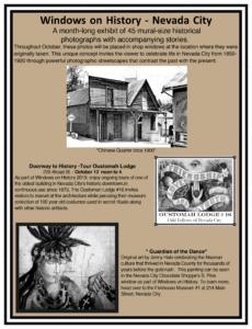 Windows On History Nevada City @ Nevada City Oddfellows